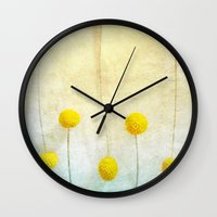 butcher billy Wall Clocks featuring Billy Balls by kelly*n photography
