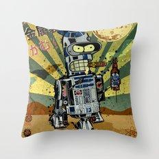 BendR2D2 Throw Pillow