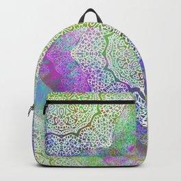 White Flower Mandala G406 Backpack