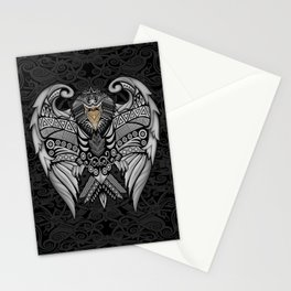 White Bird Aztec Pattern Stationery Cards