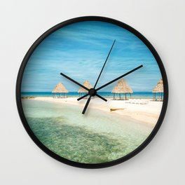 Waves and Clouds Wall Clock