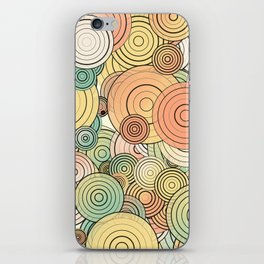 Layered circles iPhone Skin