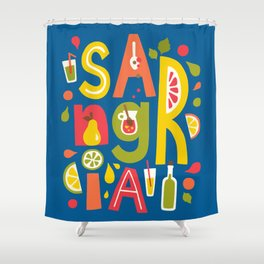 Sangria Shower Curtain