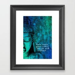 Aqua Buddha Framed Art Print