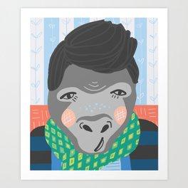 A Very Gentrified Gorilla Print Art Print