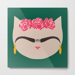 Frida the Cat Metal Print