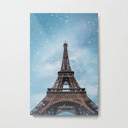 Winter in Paris - Eiffel Tower France Metal Print