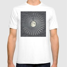 Phases // Moon Calendar 2017 MEDIUM Mens Fitted Tee White