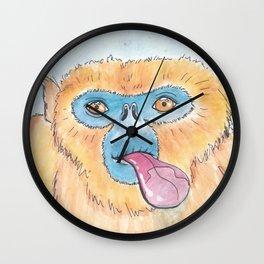Window Lickers-Monkey Wall Clock
