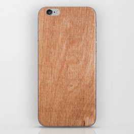 Abstract pastel brown rustic wood texture iPhone Skin
