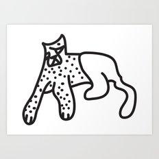 Zef Cheetah Art Print