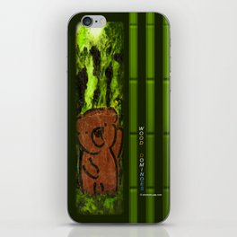 Wood Dominoes - Prehistoric #1 iPhone Skin