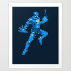 Tobias the Blue Lantern Art Print