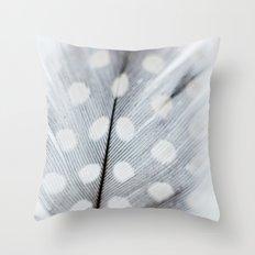 Polka Dot Feather Throw Pillow