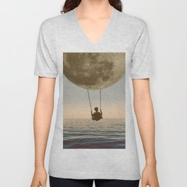 DREAM BIG/MOON CHILD SWING Unisex V-Neck