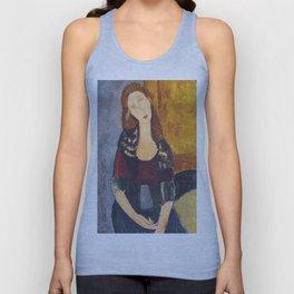 Jeanne Hebuterne woman portrait by Amedeo Modigliani Unisex Tank Top