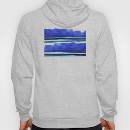 Wave Stripes Abstract Seascape Hoody