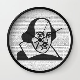 Words of Shakespeare Wall Clock