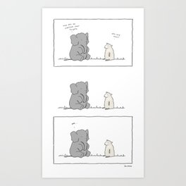 An Elephant Almost Never Forgets  Art Print
