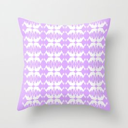 Oh, deer! in lilac purple Throw Pillow