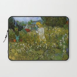 Vincent Van Gogh Mademoiselle Gathet in her Garden at Auvers 1890 Laptop Sleeve