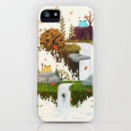 Autumn froggos iPhone Case