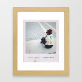 Sometimes the path is right under your nose Framed Art Print