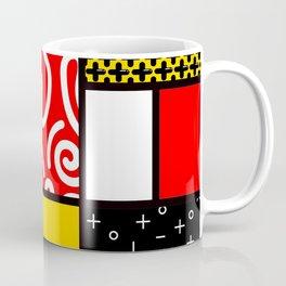 Mondrian in a Memphis Style Coffee Mug