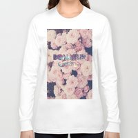 bonjour Long Sleeve T-shirts featuring Bonjour by Création Numérique du Rocher