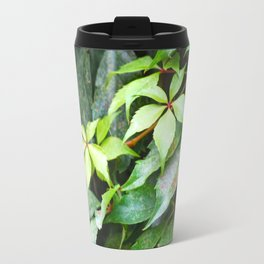 Green Vines Metal Travel Mug