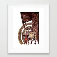 gore Framed Art Prints featuring Gore by Smokacinno