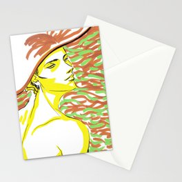summer girl 1 Stationery Cards