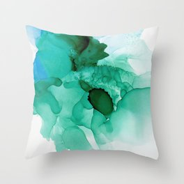 Abstract Coral - Alcohol Ink Throw Pillow