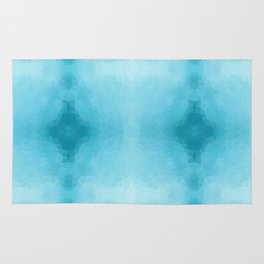 Kaleidoscopic design in soft blue colors Rug