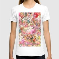 preppy T-shirts featuring Summer Flowers | Colorful Watercolor Floral Pattern Abstract Sketch by Girly Trend