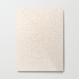 Spacey Melange - White and Pastel Brown Metal Print