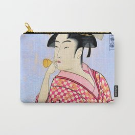 Kitagawa Utamaro - Woman Blowing Poppin - Digital Remastered Edition Carry-All Pouch
