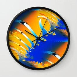 Lava Meets the Sea Fractal Wall Clock