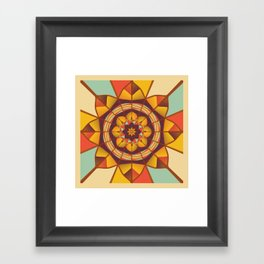 Multicolored geometric flourish Framed Art Print