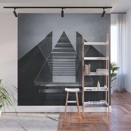 The Hotel (experimental futuristic architecture photo art in modern black & white) Wall Mural