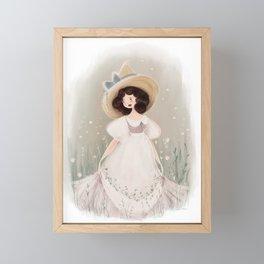 Cottagecore Witch/Snow White inspired  Framed Mini Art Print