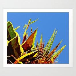Cactus Plant All Aglow Art Print