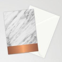Carrara Italian Marble Holiday Rose Gold Edition Stationery Cards