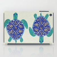 sea iPad Cases featuring Sea Turtle by Cat Coquillette