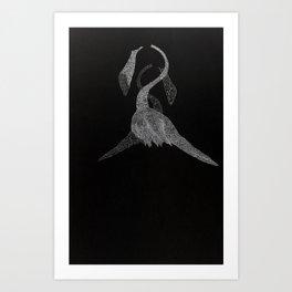 Dead Flamingo Art Print