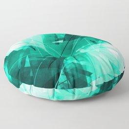 Mint Maze - Geometric Abstract Art Floor Pillow