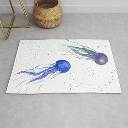 Vivid Jellyfish Rug
