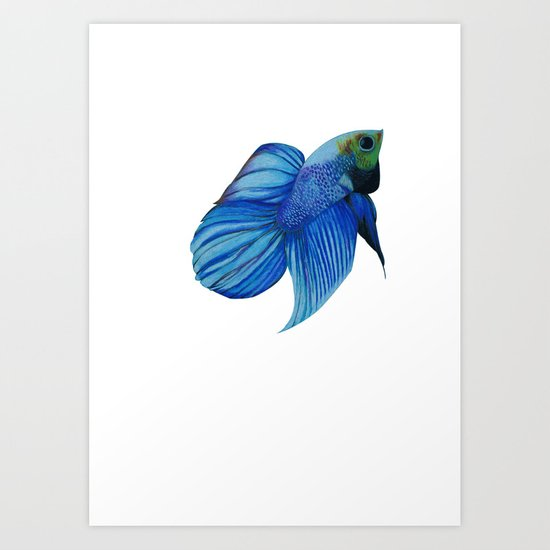 The Blue Fish Art Print