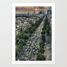 Champs Elysees HDR Art Print
