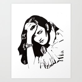 In Black & White IV Art Print